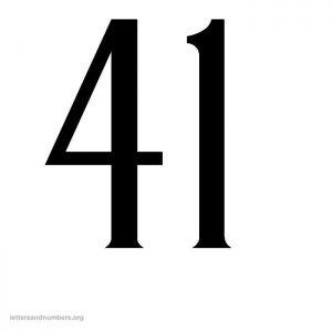 antique-number-41